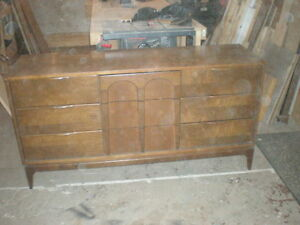 9 Drawer Wooden Walnut Dresser