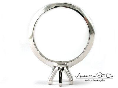 White Gold Semi Set - 14K White Gold Semi Mount Engagement Ring Solitaire Setting Round Diamond Women