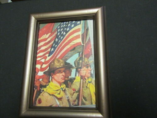 Scouts in Parade Framed Print 8 1/2 by 6 1/2 Inches      eb09