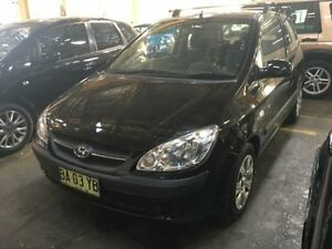 2009 Hyundai Getz TB MY09 SX Black 5 Speed Manual Hatchback Georgetown Newcastle Area Preview