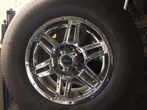 265/70r17 Chrome Rims and Tires