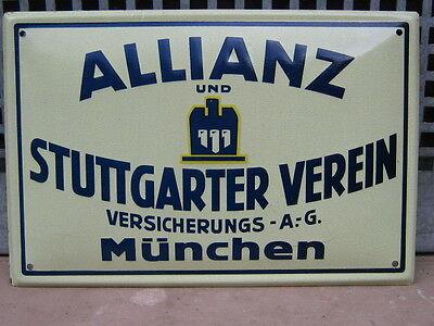 ALLIANZ und STUTTGARTER VERSICHERUNG BLECHSCHILD