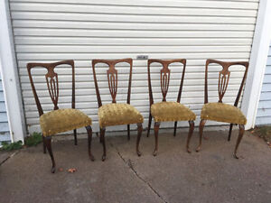 Vintage Dining Chairs Set of 4