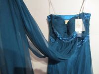 Blue-Designer Evening Dress brand new with tag rrp £399