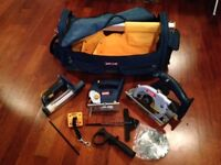 *Unused* RYOBI power tools with robust carry bag: Circular Saw, Jigsaw, Light (battery not included)