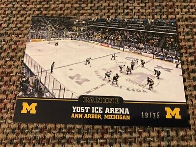 YOST ICE ARENA 2015 Panini Collegiate MICHIGAN Series Parallel # 19/25 Hockey for sale  Shipping to Canada
