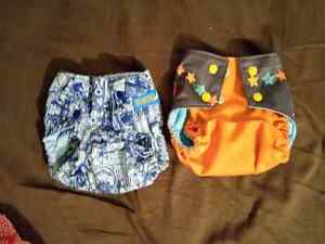 Cloth diapers - Couches lavables, Pocket diapers