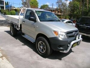 2006 Toyota Hilux GGN25R 06 Upgrade SR (4x4) White 5 Speed Manual Cab Chassis Kingsgrove Canterbury Area Preview