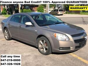 2008 Chevrolet Malibu 2LT FINANCE WARRANTY FINANCE 100% APPROVED