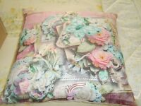 NEW .40 X 40 CM SQUARE BUTTERFLY CUSHION. MULTI COULOUR'S