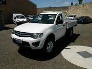2010 Mitsubishi Triton MN MY11 GLX White 4 Speed Automatic Cab Chassis Beaconsfield Fremantle Area Preview
