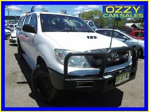 2009 Toyota Hilux KUN26R 08 Upgrade SR (4x4) White 5 Speed Manual Dual Cab Pick-up Penrith Penrith Area Preview