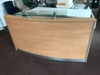 USED BEECH RECEPTION COUNTER