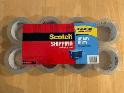 Scotch 3m Clear Heavy Duty Shipping Packing Tape 8 Rolls Total 436 Yds 400 M