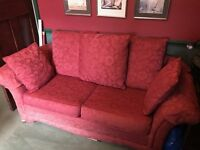 3 seater high quality red sofa bed