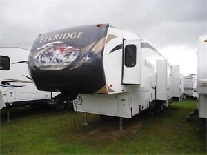 2013 Heartland Elkridge 34QSRL Luxury 5th wheel trailer-4 slides