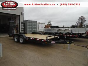 7 ton equipment trailer 83'' x 16' long w/ $500 IN FREE UPGRADES London Ontario image 1