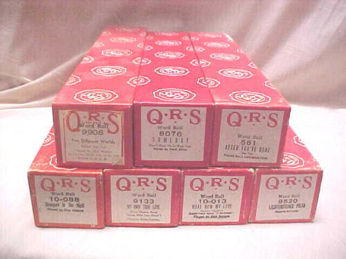 QRS MUSIC ROLLS FOR PLAYER PIANOS   LOT OF 7