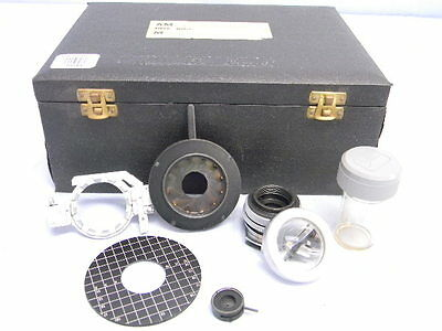 Vintage Vickers Microscope Accessories- Lens Shutter Irus Etc. Cased Kit