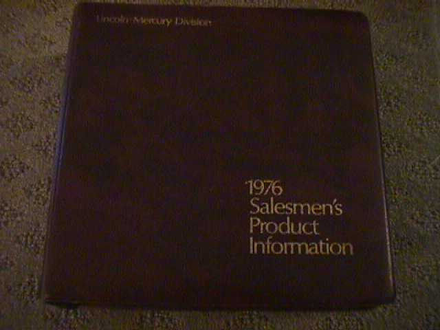 SCARCE 1976 MERCURY AND LINCOLN PRODUCT INFORMATION (FACTS) BOOK