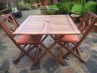 Folding Garden Table & 2 Chairs in VGC