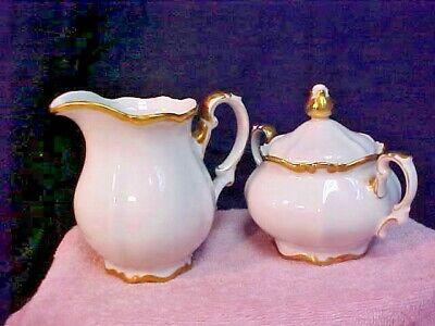 Mitterteich GOLDEN LARK Creamer Covered Sugar Bowl Made In Germany 1507 28 - $42.95