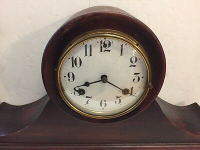 Antique Waterbury Mantle Clock Wood case .Key Slight fixer