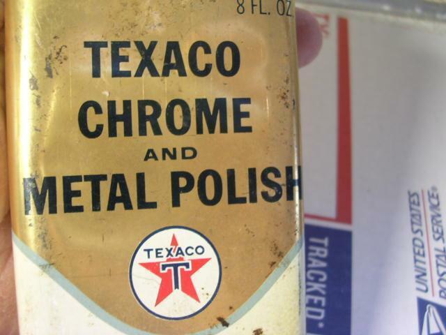 Vintage Texaco Chrome and Metal Polish 8 Fluid Oz Can