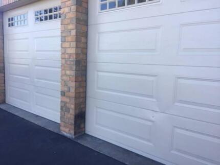 2 Panel Lift Roller Doors with motors