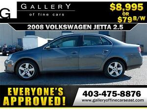 2008 Volkswagen Jetta 2.5L $79 bi-weekly APPLY NOW DRIVE NOW