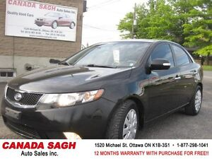 2010 Kia Forte SX AUTO, LOADED LTHR,ROOF, 12M.WRTY+SAFETY $5990