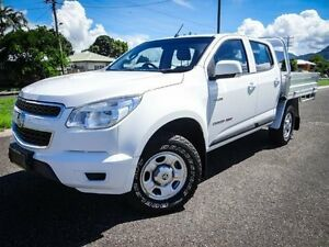 2012 Holden Colorado RG LX (4x4) White 5 Speed Manual Crewcab Bungalow Cairns City Preview