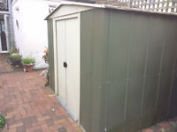 Metallic shed for garden use