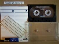 RARE MAXELL UDI 90. 1990-1991. LARGE OVAL WINDOW ISSUE. EXCELLENT TYPE 1 CASSETTE TAPES. CLEAN & VGC