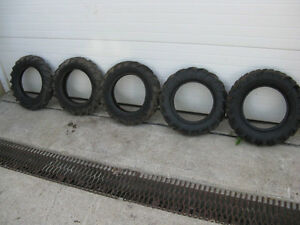 12 Inch Tractor Lug Style Tires( The First 3 On Left Sold)