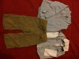 Baby boy shirts Zara and Mothercare and trousers Next 6 - 9 months