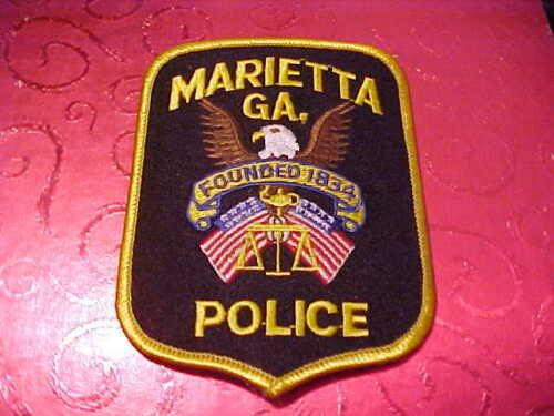 MARIETTA GEORGIA POLICE PATCH SHOULDER SIZE UNUSED ***********