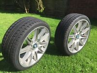 """BMW 3 Series M Sport 19"""" Alloy Wheels, 2 Front and 1 Rear"""