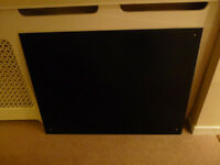 Black toughtened glass kitchen splashback 106cm X 80cm