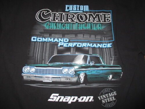 Steel SNAP-ON Custom COMMAND PERFORMANCE (XL) T-Shirt CHROME Gaslight Theater