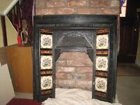 Victorian inset tiled fireplace