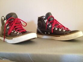 CONVERSE ALL STAR MENS LEATHER BOOTS - SIZE 8