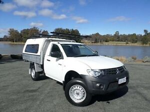 2013 Mitsubishi Triton MN MY13 GL White 5 Speed Manual Cab Chassis Greenway Tuggeranong Preview