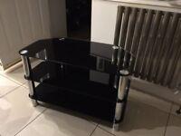 TV Stand (Black Glass Like New)