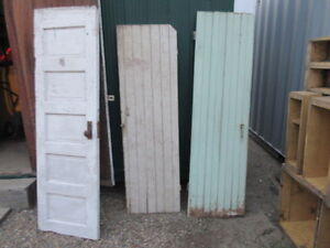 two old farm house pantry doors
