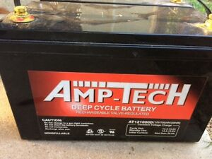 Deep Cycle Battery Amp-Tech 100 amp-hour Narangba Caboolture Area Preview