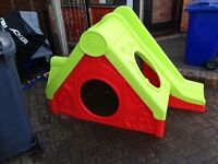Children's playhouse slide