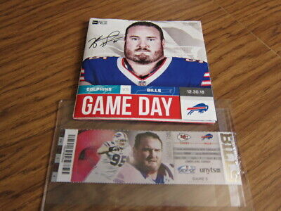 Lot of 2 - Kyle Williams Items - Final Game Program & Ticket Stub