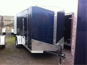 """ENCLOSED CARGO TRAILERS 6'6"""" INTERIOR RADIAL TIRES AND MORE"""