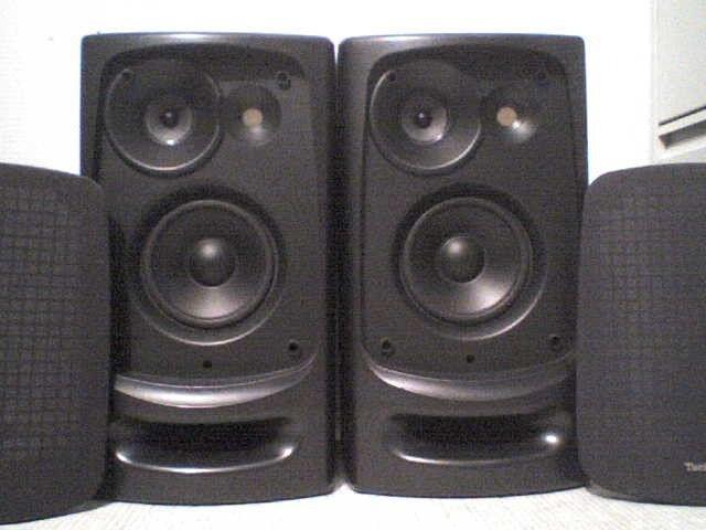 80W Technics 3 Way horned Stereo Speakers -
